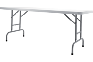 Buffet Collapsible Table With Upper Shelf